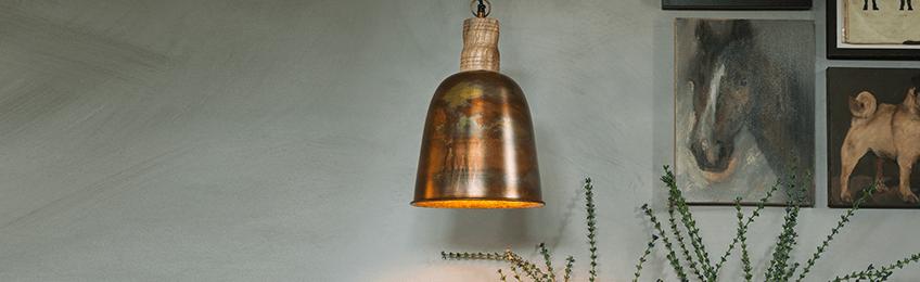 Ceiling lights copper