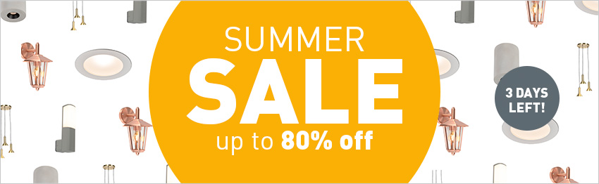 Summer sale at lampandlight!