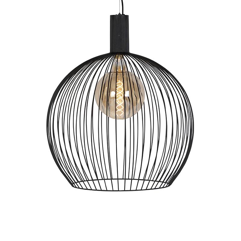 Modern Round Pendant Lamp 60cm Black Wire Lampandlight
