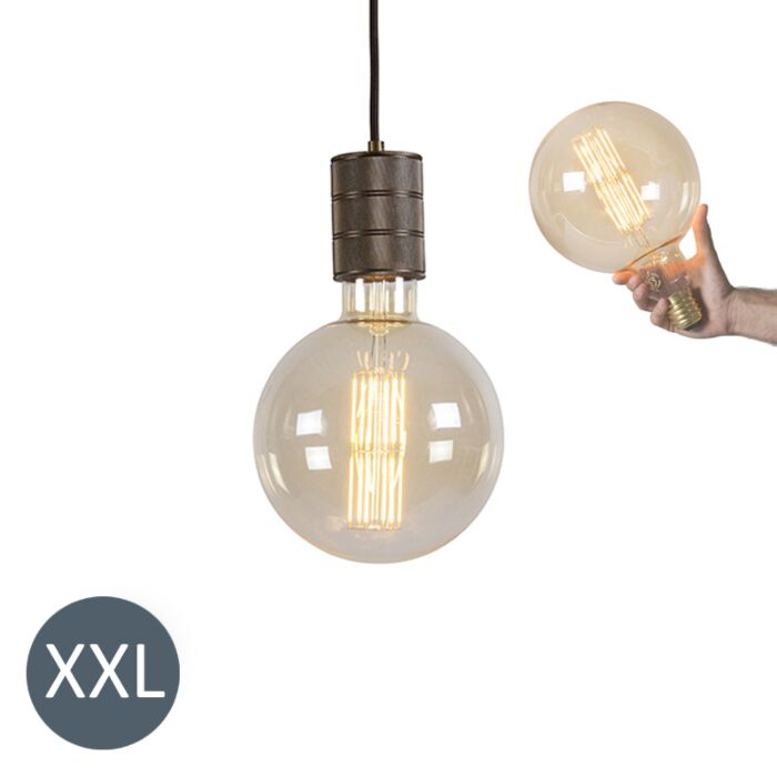 Pendant-Lamp-Megaglobe-Bronze-with-Dimmable-LED-Bulb