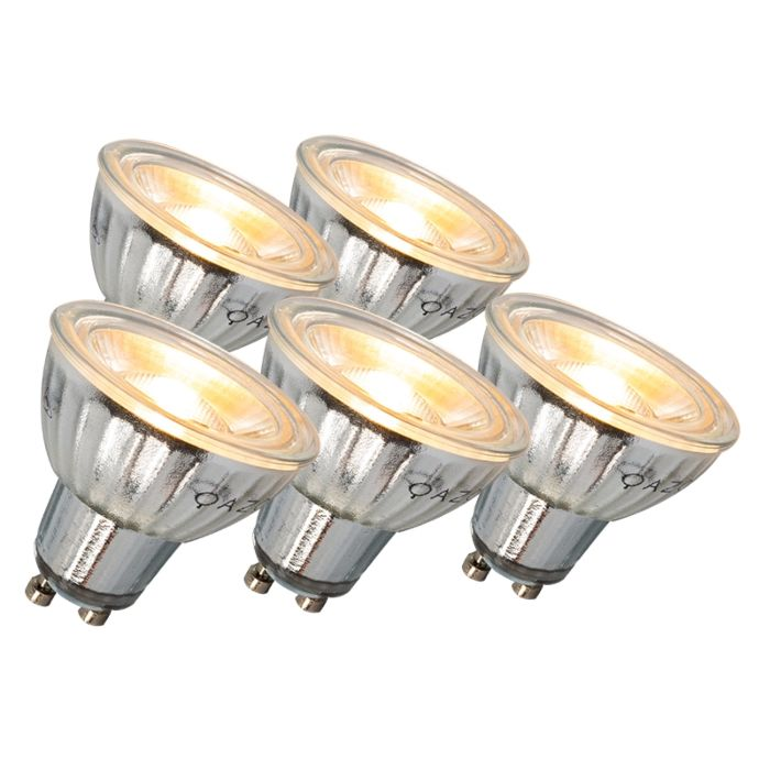 Set-of-5-LED-GU10-Bulbs-Dimmable-7W-500-lumen-3000K