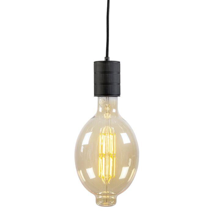 Calex-Retro-Pendant-Black-200cm-with-E40-Bulb-Holder