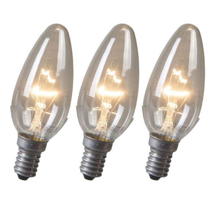 Set-of-3-Candle-Clear-E14-Bulbs-40W