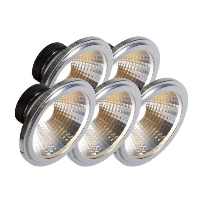 Set-of-5-AR111-LED-COB-7W-24°-560LM