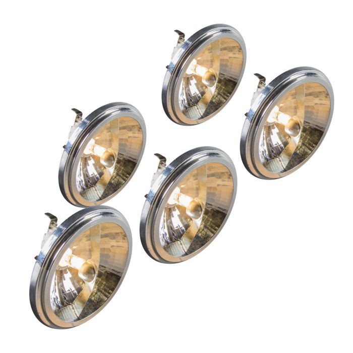Set-of-5-G53-QR111-Halogen-50W-12V