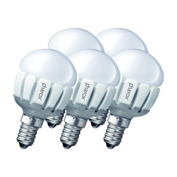 Set-of-5-E14-LED-Pharox-P45-5W-200LM