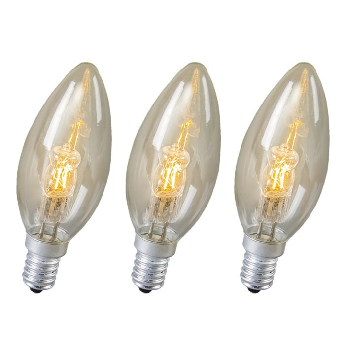 Set-of-3-E14-Halogen-Candle-18W-210LM