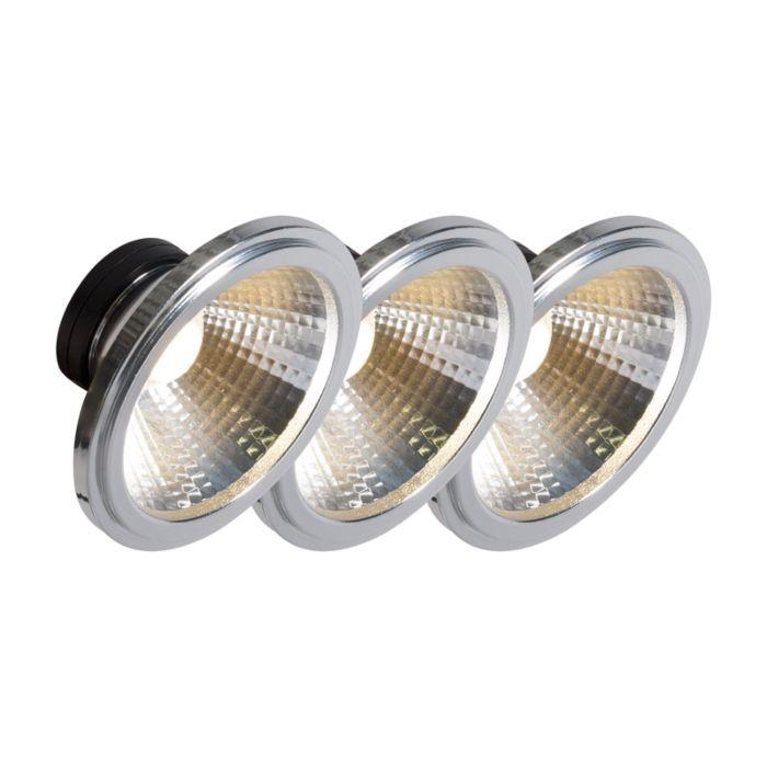 Set-of-3-AR111-LED-COB-7W-24°-560LM