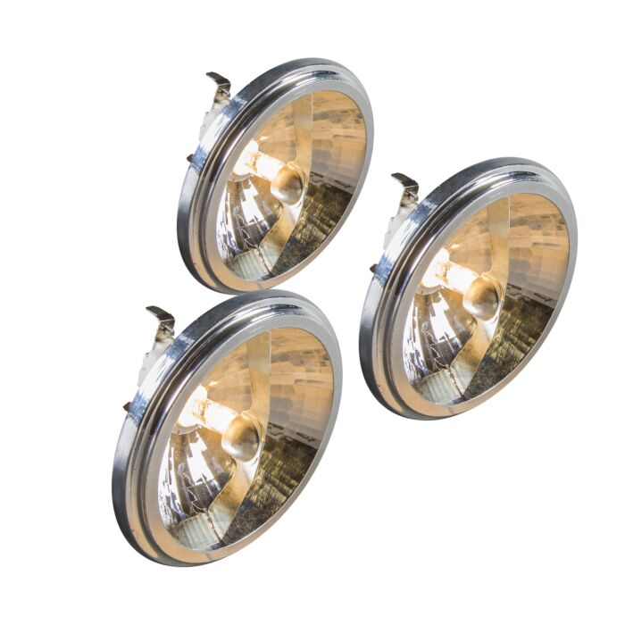 Set-of-3-G53-QR111-Halogen-50W-12V