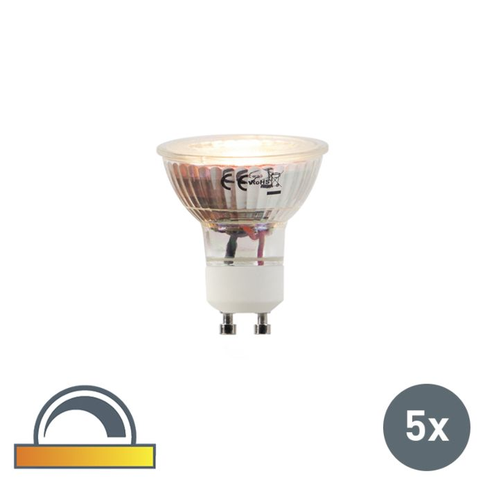 Set-of-5-GU10-LED-5W-360LM-2000K-2700K-Dimmable