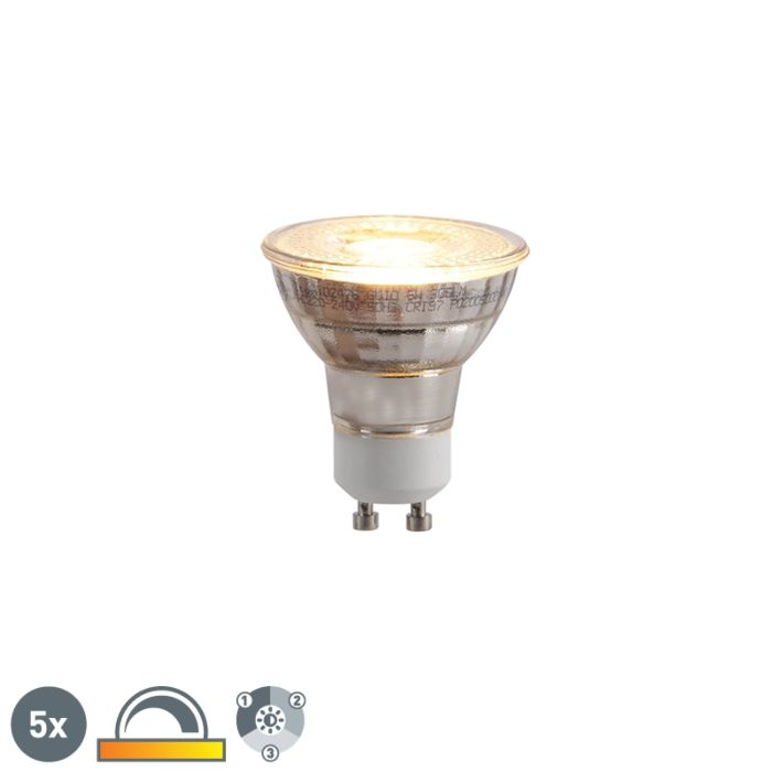 Set-of-5-GU10-LED-lamps-3-step-dimmable-in-Kelvin-5W