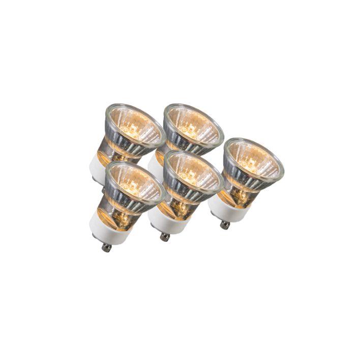 Set-of-5-GU10-3.5cm-Halogen-35W-400LM
