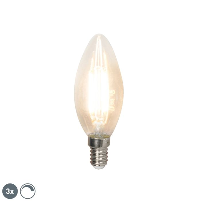 Set-of-3-E14-LED-B35-Candle-Clear-Filament-3.5W-350LM-2700K-Dimmable