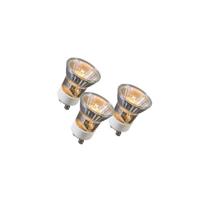 Set-of-3-GU10-3.5cm-Halogen-35W-400LM