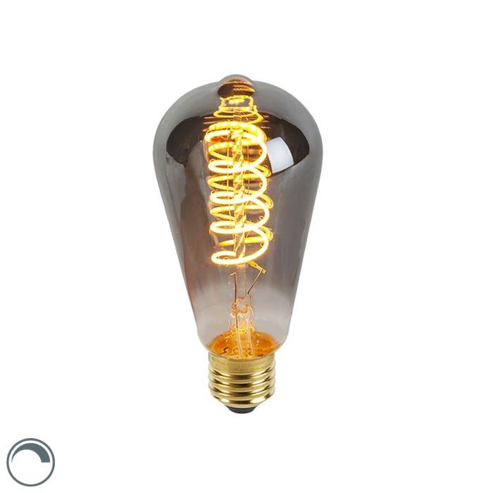 E27-LED-ST64-Smoke-Spiral-Filament-4W-100LM-2100K