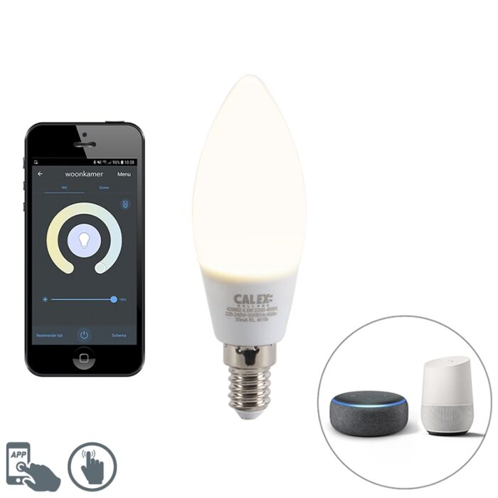 Smart-E14-dimmable-LED-candle-lamp-with-app-4.5W-400-lm-2200-4000K