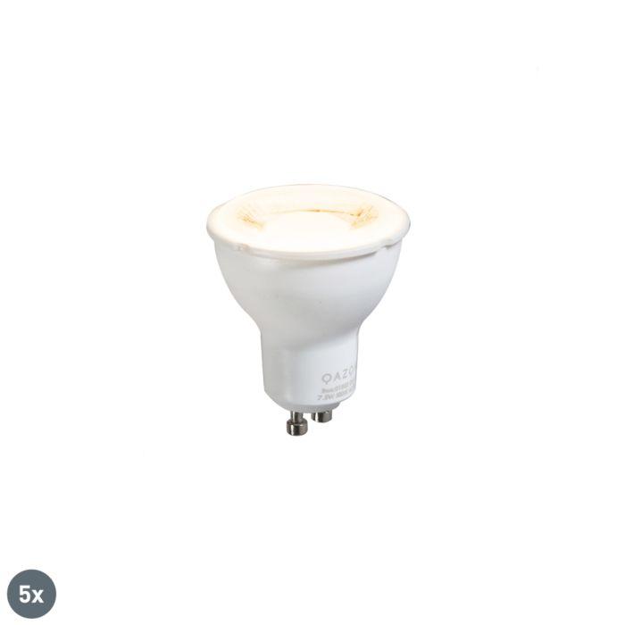 Set-of-5-GU10-lamp-7.5W-3000K
