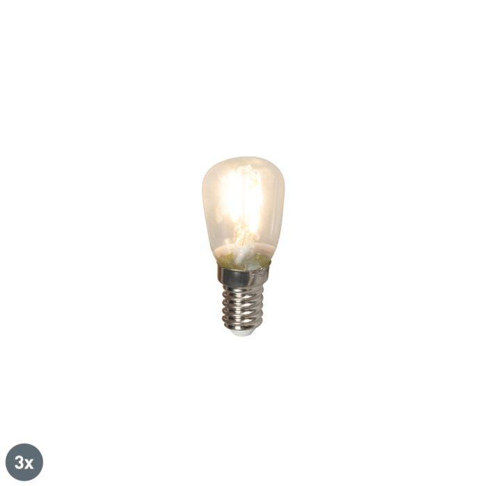 Set-of-3-E14-LED-T26-Filament-1W-100LM-2700K