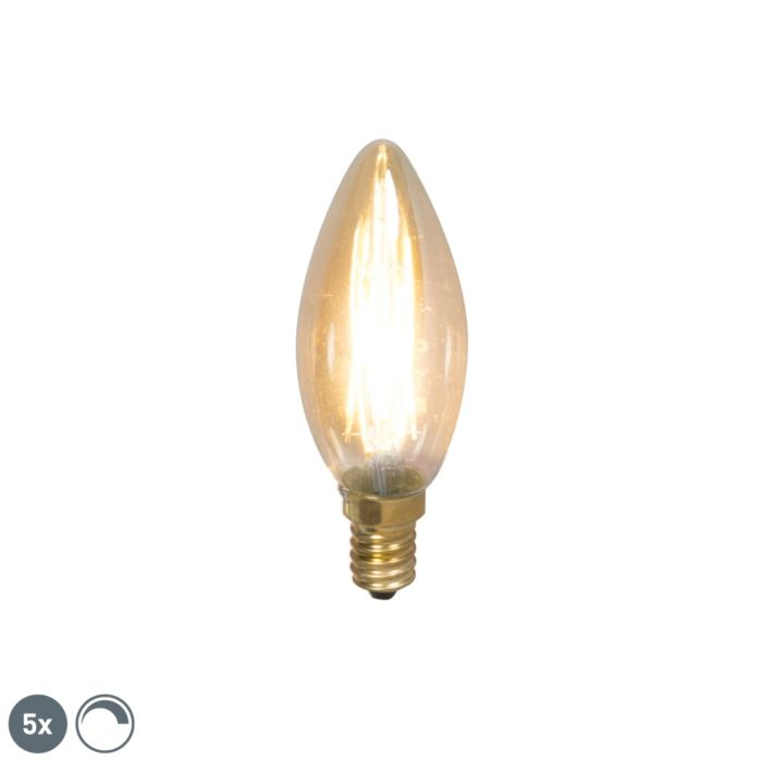 Set-of-5-E14-LED-Candle-Filaments-3W-200LM-2100K-Dimmable