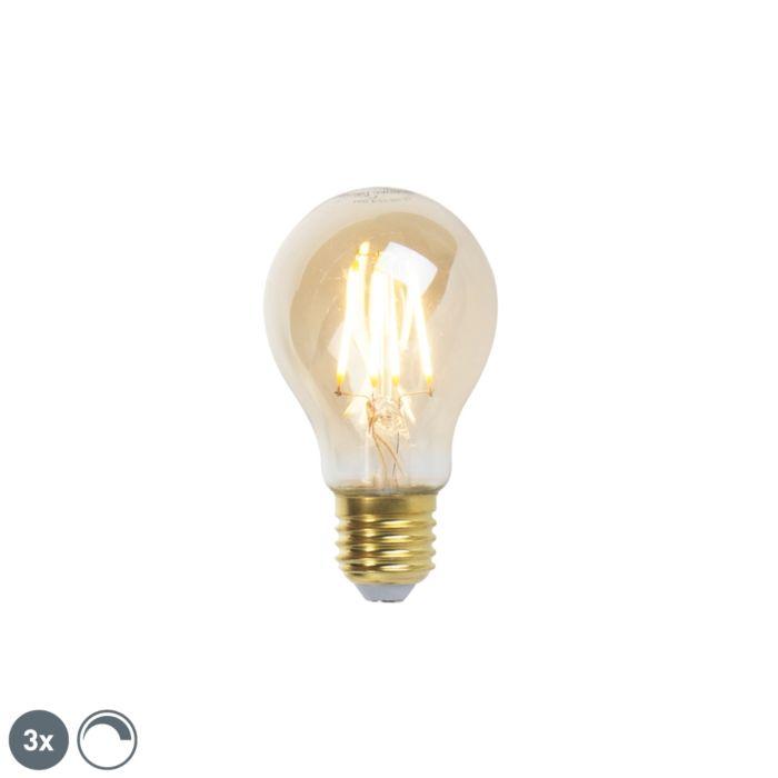 Set-of-3-E27-LED-A60-Gold-Filament-5W-360LM-2200K