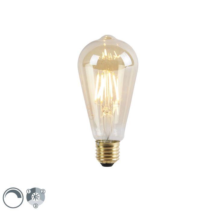 E27-3-step-dimmable-LED-lamp-ST64-goldline-5W-550-lm-2200K