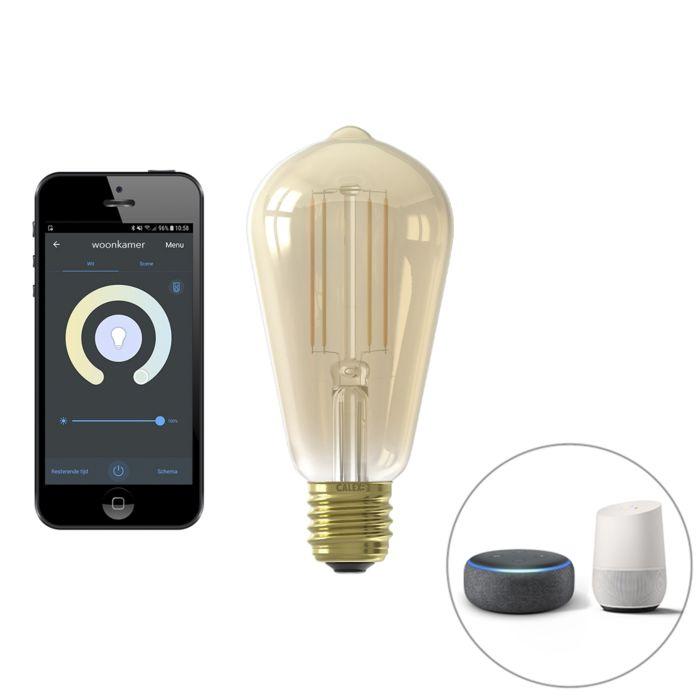 E27-LED-ST64-Filament-7W-806LM-1800K---3600K-Smart-Technology