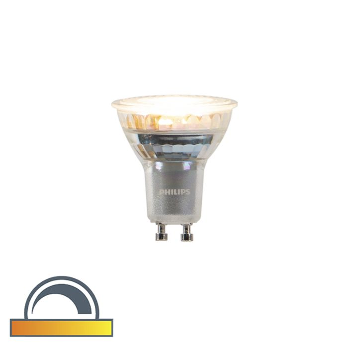 GU10-dim-to-warm-Philips-LED-lamp-3.7-W-260-lm-2200K---2700K