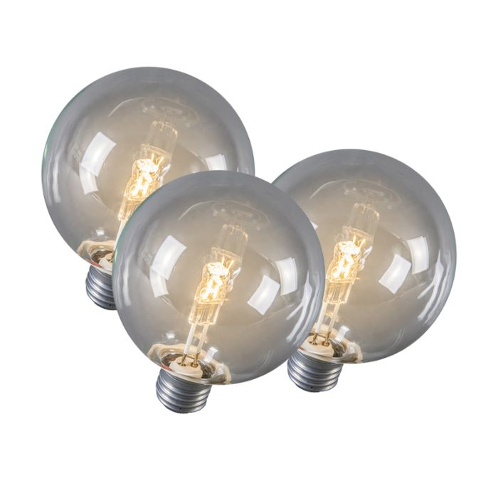 Set-of-3-E27-Halogen-Globe-95mm-28W-370LM