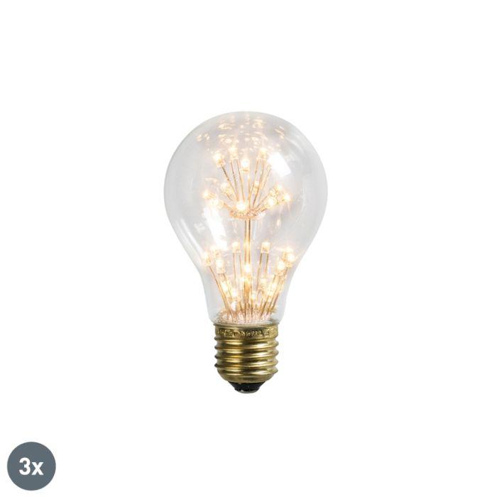 Set-of-3-E27-LED-A60-Clear-Filaments-1.4W-136LM-2100K