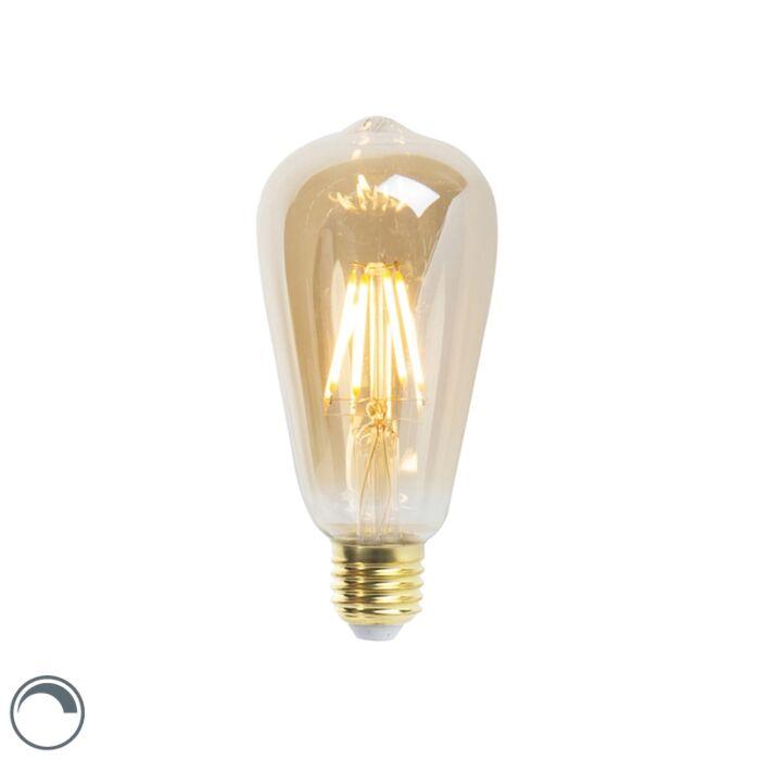 E27-dimmable-LED-filament-lamp-ST64-goldline-5W-360-lm-2200K