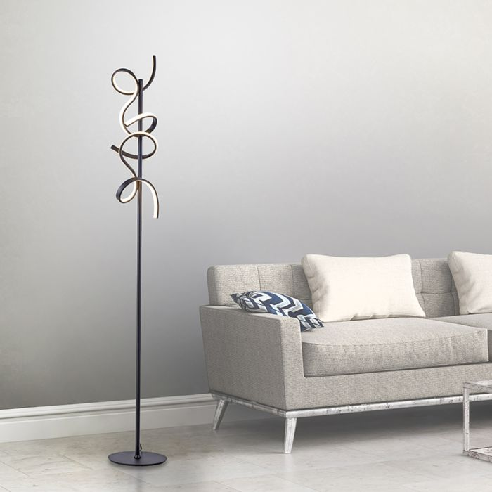 Design-floor-lamp-black-incl.-LED-and-dimmer---Krisscross