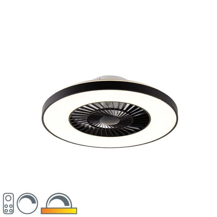Ceiling-fan-black-incl.-LED-with-remote-control---Climo