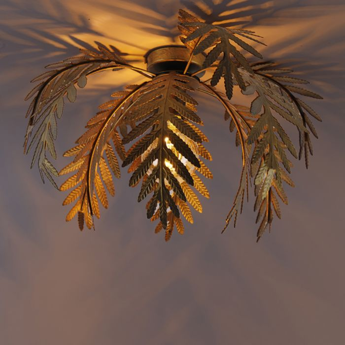 Vintage-ceiling-lamp-gold-45-cm---Botanica