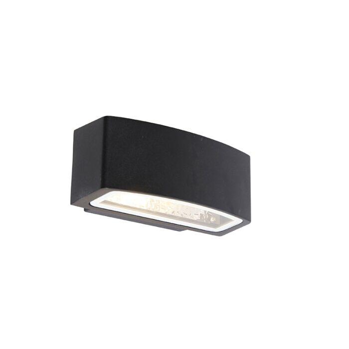 Modern-outdoor-wall-lamp-black-IP44---Latina