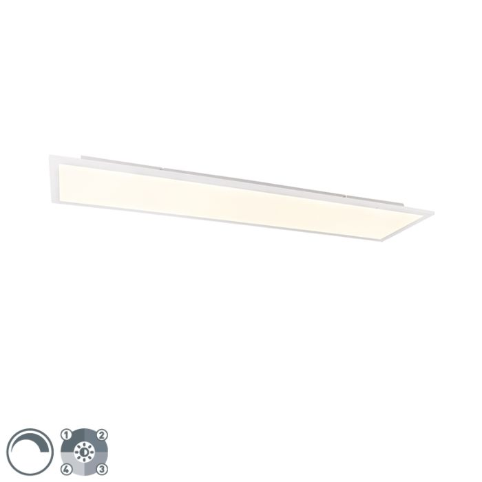 Modern-ceiling-lamp-steel-120-cm-incl.-LED-4-step-dimmable--Liv