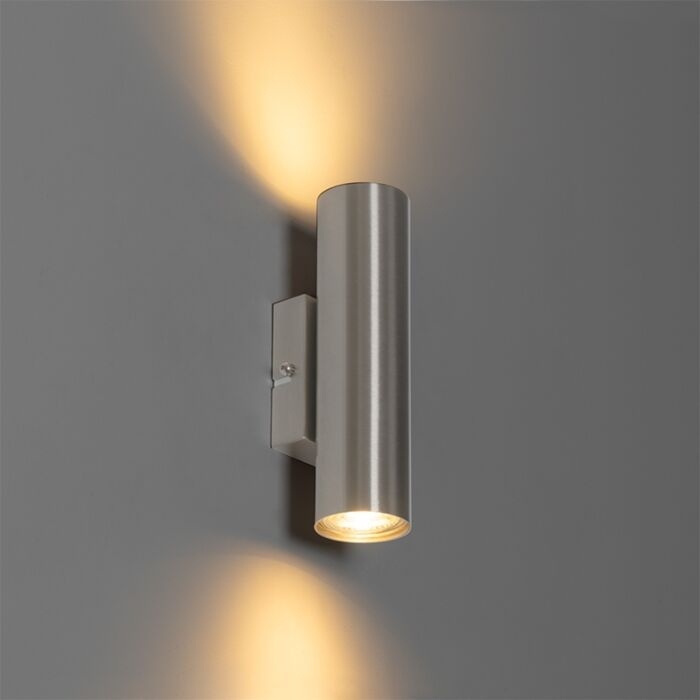 Modern-wall-lamp-steel-2-light---Jeana
