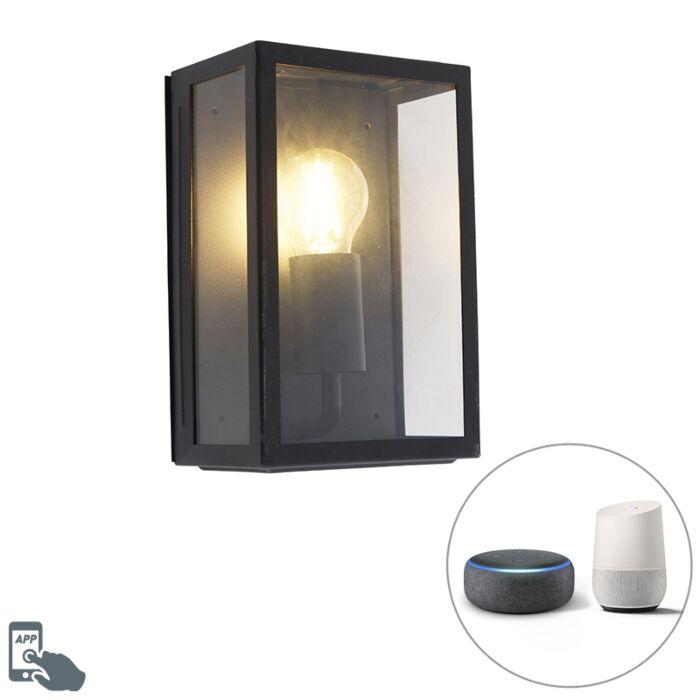Smart-outdoor-wall-lamp-black-incl.-WiFi-A60-IP44--Rotterdam-2