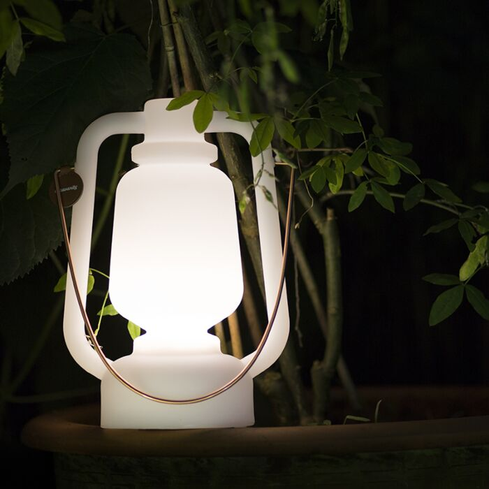 Table-lamp-white-IP44-incl.-bluetooth-speaker---Storm-Music