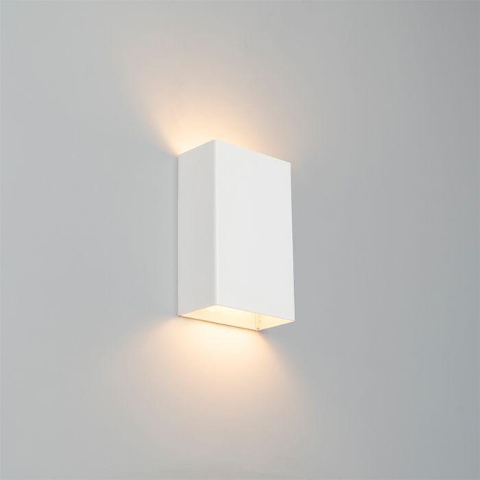 Modern-wall-lamp-white---Otan-S