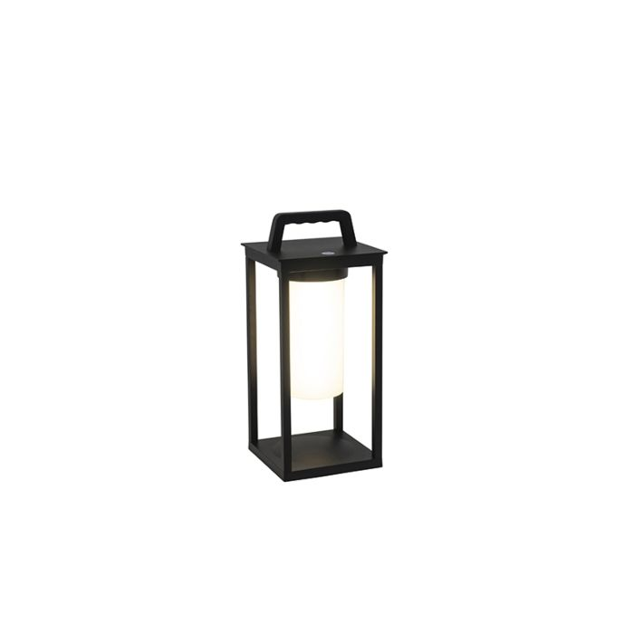Modern-outdoor-lamp-black-incl.-LED-rechargeable-IP44---Denlu