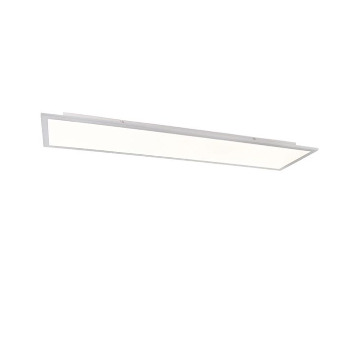 Ceiling-lamp-white-120-cm-incl.-LED-with-remote-control---Liv