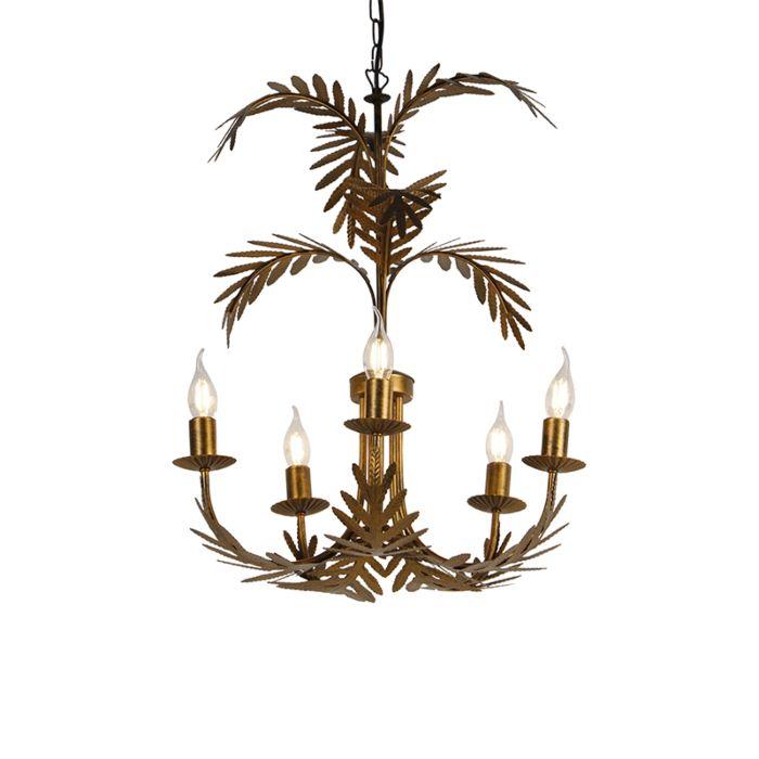 Vintage-chandelier-gold-5-light---Botanica