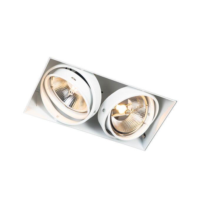 Recessed-spot-white-GU10-AR111-trimless-2-lights---Oneon
