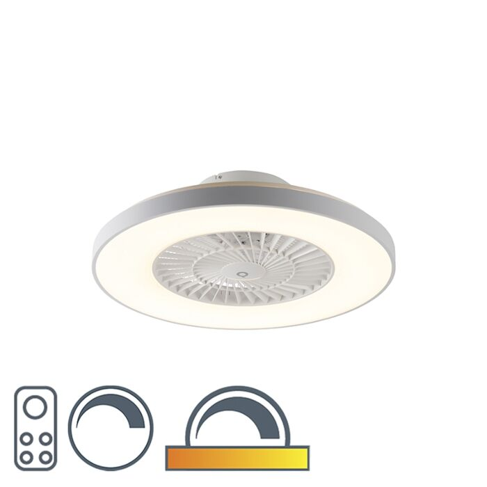 Ceiling-fan-white-with-star-effect-dimmable---Climo