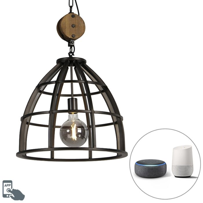 Industrial-smart-hanging-lamp-black-47-cm-incl.-WiFi-G125---Arthur