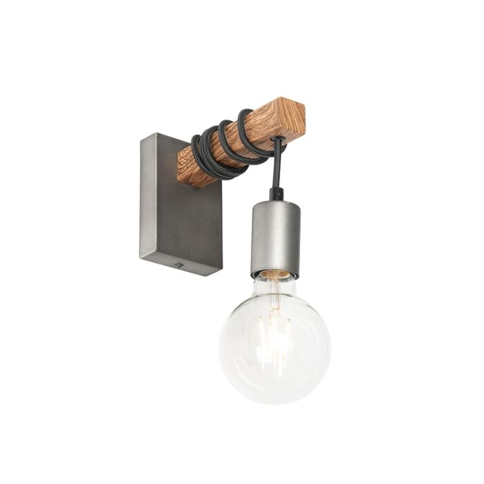 Industrial-wall-lamp-steel-with-wood---Gallow