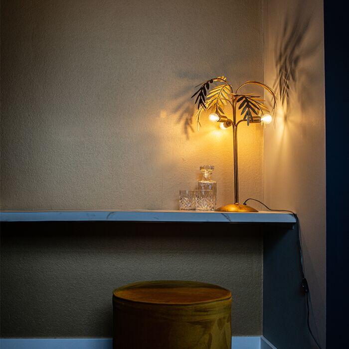 Art-Deco-table-lamp-gold-3-light---Botanica