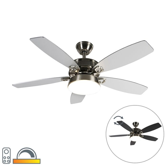 Ceiling-fan-steel-with-remote-control-incl.-LED---Malaki