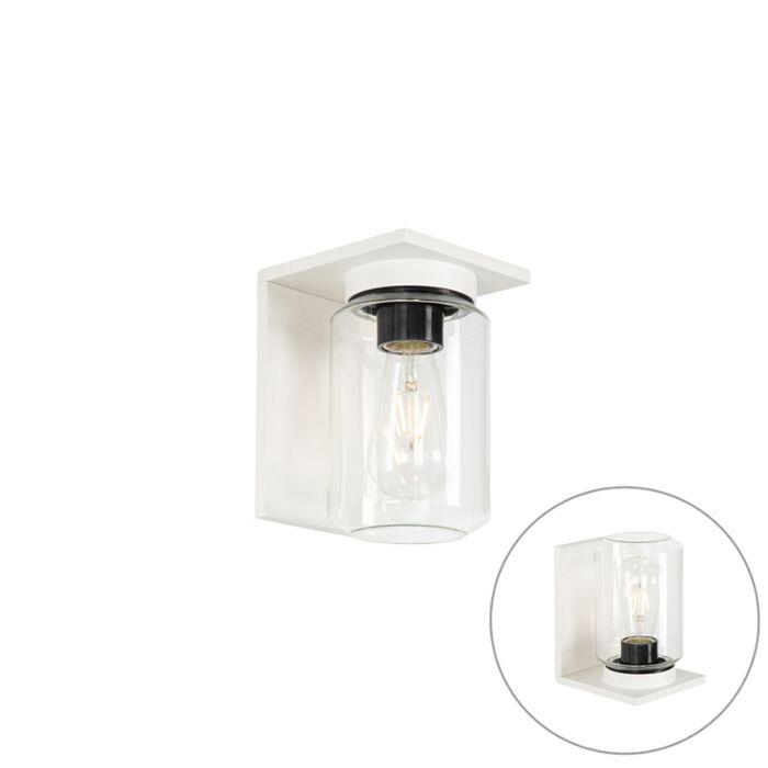 Modern-wall-lamp-white-IP54---Marshall
