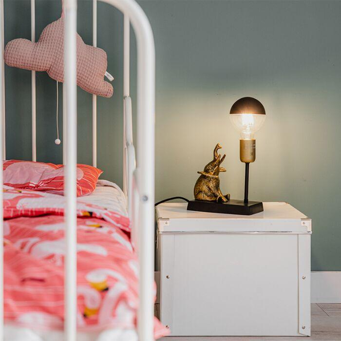Vintage-table-lamp-brass---Elefant-Sidde
